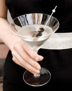 Black and White Martini