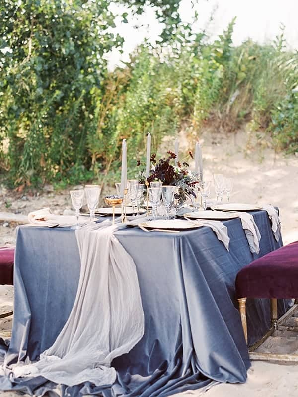 blue-gray-velvet-wedding-tablecloth